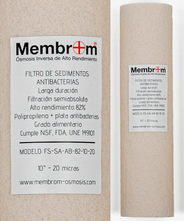 """Filtro antibacteria agua sedimentos recambio 1 5 10"""" 20 50 micras"""